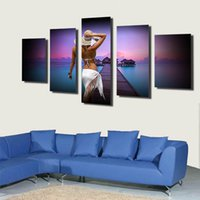 Wholesale Sex Canvas Paintings - 2017 Frameless Picture On Wall women sex picture wallpaper picture Spray painting canvas home decor art