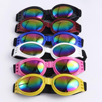 Wholesale Dog Uv - Foldable Pet Glasses Dog Sunglasses for Small Medium Large Dogs UV Eye Protection Glasses Doggles Grooming Accessories 6 Color