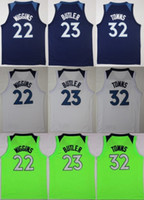 Wholesale Cheap Shorts For Men - 2017-18 Cheap 23 Jimmy Butler Men 32 Karl-Anthony Towns 22 Andrew Wiggins Green White Blue Jerseys For Fans Sports Stitched 2018