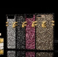 Für iPhone 8 7 6 Plus Strass Glitter BlingBling Fall Telefon Abdeckung Luxus Leichte Volle Deckung Shining Crystal Shockproof Shell