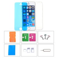 Acessórios de telefone Protetor Back Case Screen Film Protector Phone Stand Cartão Slot Pin Earphone Dust plug for iPhone 5C