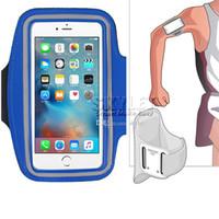 ingrosso borsa del braccio per il iphone-Per iPhone XS MAX impermeabile sport in esecuzione bracciale cassa allenamento bracciale titolare sacchetto del braccio del cellulare con sacchetto OPP