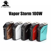 Wholesale High Rate Battery - 100% Authentic Vapor Storm 100W Box Mod 3200mah Built-in Battery Powered By High-rate Dual Polymer Cells