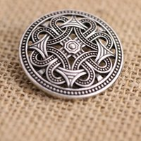 Venta al por mayor-10pcs Nórdico Vikings Amuleto Suecia fíbula Set Broches Viking brosch joyería Talisman