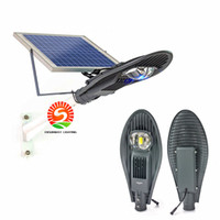 Wholesale Solor Powered - High power solor led street lights 20W 30W Solar Powered Panel LED Automatic Control Outdoor Flood Lights Solar Garden Night lamps