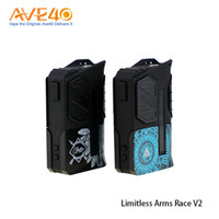 Wholesale fit racing - Limitless Arms Race II Vape Box Mod fit Dual 18650 Battery 200w Out Put Update Limitless LMC 200W 100% origina Promotion