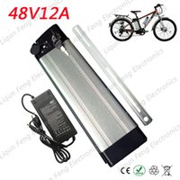 Wholesale electric scooter battery charger 48v - Electric Bicycle Battery 48V 12AH High Power 1000W E-bike Lithium Scooter Battery 48V with 2A Charger 30A BMS EBike Battery 48V