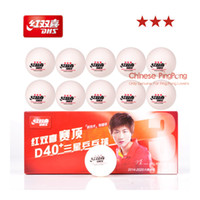 Wholesale Table Tennis Plastic Ball - Bonus Pack: 10 Balls Box Newest DHS 3-Star D40+ Table Tennis Balls New Material Plastic Poly Ping Pong Balls