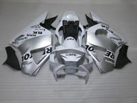 Wholesale Cbr954rr Plastics - Hot sale plastic fairing kit for Honda CBR900RR 02 03 white silver fairings set CBR 954RR 2002 2003 OT15