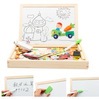 Wholesale Easels Boards For Kids - Baby Farm Animal Wooden Magnetic Puzzle Toys for Children Kids Jigsaw Baby Drawing Easel Board fidget cube Educational toy PT014