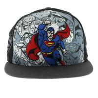 Wholesale Snapback Superman Cheap - Superman The Hero Break Out SNAPBACK Snapback Sport Caps Outdoor Headwears Hip Hop Cheap Hats Baseball Cartoon Hat Free Ship