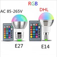Super Bright 85-265V E27 E14 RGB Светодиодная лампа 16 Color Magic LED Ночная лампа с подсветкой Dimmable Stage Light / 24key Remote Control holiday