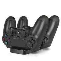 Wholesale Playstation Controller Accessories - PS4 slim Accessories Joystick PS4 Charging Station Stand Play Station 4 Slim Pro Charger for Playstation 4 Slim Pro PS4 Controller