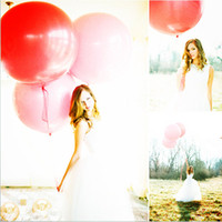 10 stücke 18 inch Latex Ballons Runde Riesige transparent Air Balls Helium Hochzeit valentinstag diy Party Dekoration fotografie requisiten
