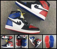Wholesale Hight Top Trainers - 2017 Air Retro 1 Top 3 Men Basketball Shoes Retros 1s OG Sneakers AAA Quality Mandarin duck shoe Trainers Mens Sport Shoes 7-12