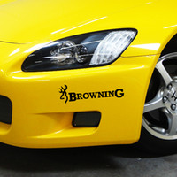 Wholesale Decal Words - Browning Hunt Deer Buck Car Styling Funny Chasse Sticker Vinyl Car Decal Car Accessories