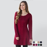 Wholesale Sweater Robe - Winter Sweater Dress Office Vintage Vestido Curto Knitted Robe Pull Femme Hiver Casual Christmas Bodycon Kleider
