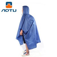 External Inflator Pump orange tents - AOTU Multi purpose Outdoor Poncho Raincoat Climbing Cycling Rain Cover Waterproof Camping Tent Mat Travel Equipment Orange Blue