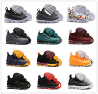 Wholesale Air Flower - 2017 New Arrival with Zipper James 15 Basketball Shoes for High quality LBJ 15s Wolf Grey Flowers Airs Cushion Sports Sneakers Size 7-12