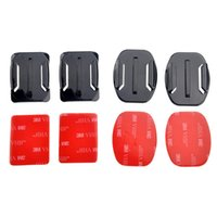 Wholesale dive sticker - Accessories Set 4pcs Flat and Curved Base Adhesive Mount 3M VHB Stickers For Xiaoyi 4K SJ4000 Sports Action Camera