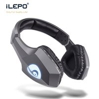 Wholesale Phone Mold - New Private Mold S33 Bluetooth Headset V4.0 EDR Stereo Strong Voice Colorful LED Light On Ear Over Ear HiFi Bass Stereo Headphone Sport Mic