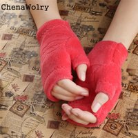 Vente en gros - ChenaWolry 1PC Winter Autumn Thick Warm Gloves Claviers à onglets Finger Gants Hot Sales Attractive Luxe New Fashion Design Nov 20