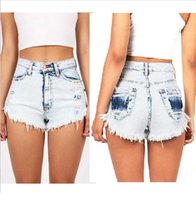 Wholesale Women Straight Leg Jeans - young girl hot jeans shorts denim shorts in summer Europe American casual streetwear straight legs 5sizes