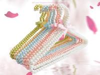 Wholesale Premium Pants - Premium-Boutique-Metal-Pearl-Beaded-Pants-Clothes-Coat-Hangers-16-034 Pearl Beaded Hangers Clothes Coat Trouser Dress 40cm Hangerworld