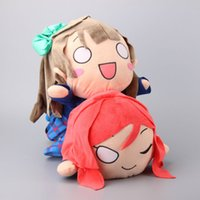 Wholesale Live Size Dolls - Wholesale- Big Size 40 CM Love Live School Idol Project Plush Toys Kotori Minami Maki Nishikino Figures Lying Posture Stuffed Dolls