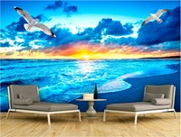 Wholesale country landscaping pictures for sale - Group buy 3d room wallpaper custom photo non woven mural Sea sunrise landscape decoration painting picture d wall murals wallpaper for walls d
