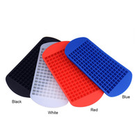 Wholesale Silicone Ice Cube Trays Wholesale - 160 Grids DIY Creative Small Ice Cube Mold Square Shape Silicone Ice Tray Fruit Ice Cube Maker Bar Kitchen Accessories 0702262