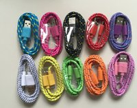 Wholesale led cable price for sale - Group buy Best Price M Ft Type C V8 Micro USB Colorful Plastic Nylon Braided Data Sync Cable Charger Charging Cables Wire Cords Leads