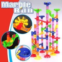 EFHH Track Ball Toy building Blocks DIY Maze a Marble Run Gift Giocattolo per bambini 105PCS
