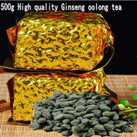 Wholesale Premium Organic - 2017 New Famous Premium Organic Taiwan Dong ding Ginseng Oolong Tea Green Food For Health Care Lose Weight Wulong Free shipping
