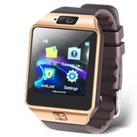 Wholesale 20PCS CARTON Inch Touch Screen Smart Watch Phone with Camera for Andriod SmartPhones Golden
