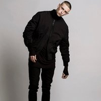 schlanke jacken großhandel-Großhandels- Mens Bomber Jacke Stil MA1 Hip Hop Jacke Schwarz Herren Slim Fit Hip Hop Pilot Baseball Jacken Mäntel Kleidung