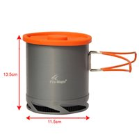 Wholesale Fmc Free - Hot Sale 1L Portable Heat Exchanger Pot Fire Maple FMC-XK6 Ultralight 190g Outdoor Camping Kettle Picnic Cookware Free Shipping