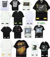 Wholesale Men Shirts Mix Cotton - hip hop Collection Off-White C O X Mirror women men t shirt summer mix style short sleeve t-shirts tee OFF White Virgil Abloh