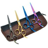 Wholesale Edging Shears - 5.5Inch 6.0Inch Daomo 2017 Free Shipping Professional Hair Scissors Barber Hair Shears Salon Cutting Scissors Sharp Edge Shears, LZS0628