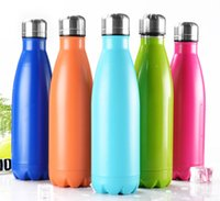 Wholesale Thermo Bottles Wholesale - 2017 Thermos 500ml Stainless Steel Vacuum Water Bottle cola shaped Outdoor Sports Bicycle Travel Thermo Cup Cola Style Hydration Gear