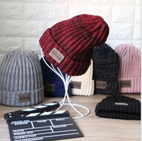 Wholesale Head Caps Knit - Winter Fashion Beanie Classic Tight Knitted Hat Women Cap Winter Beanie Headgear Headdress skiing outdoor Head Warmer Hip-hop cap KKA2386