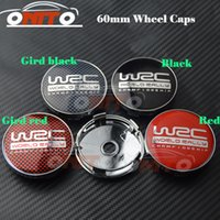 Wholesale Hot Wheels Plastic - HOT 60mm 2.36inch Car Wheel Hub Emblem Cover Auto Wheel Center Logo Cap for WRC LOGO Car emblem caps