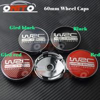 Wholesale Wholesale Hub Covers - HOT 60mm 2.36inch Car Wheel Hub Emblem Cover Auto Wheel Center Logo Cap for WRC LOGO Car emblem caps