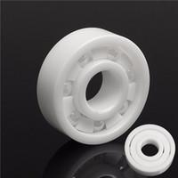 Wholesale full ceramic bearings - 8x22x7mm Ceramic Bearing Zirconia Oxide 608 Full Ceramic Bearing ZrO2 Ball Bearing