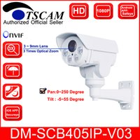 Wholesale New Ptz Ip Camera - TSCAM new DM-SCB405IP-V03 HD 1080P 2.0MP Bullet IP Camera 3X Optical Zoom Mini IR Night Vision PTZ Security camera P2P Free shipping