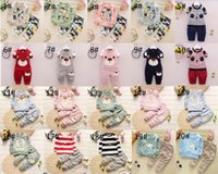 Wholesale cute children s clothing girls online - Baby Children Clothing Sets Girl Boys Cute Animal Pattern Clothes Suit Top Pants Pieces Sets Children Stripe Suits S L