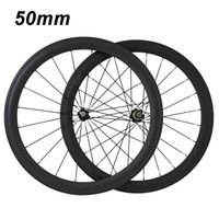 Wholesale Carbon Fiber Rims Bicycle - RG004-50mm 2017 new HOHANG genuine high-quality 700C bicycle wheel rim carbon fiber road car OEM decals EMS free shipping warranty 2 years