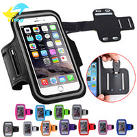Wholesale waterproof cell phone case iphone - Water Resistant Cell Phone Armband case Sports Running Gym Case Waterproof Armband Holder Pounch For samsung s7 s8 iphone 6 7 8 X