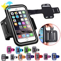 Leather sport gym bags - for iphone Armband case Sports Running Gym Case Workout Armband Holder Pounch For S7 Edge Iphone Arm phone Bag