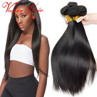 Straight Human Hair Weave Bulk 3 Bundles Remy Cheveux humains Top Quality Brazilian Indian Peruvian Malaysian Cheap Hair Weaves Extensions Sale